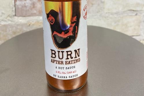 Karma Burn After Eating Hot Sauce