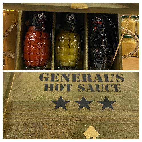 3 Star Generals Hot Sauce Pkg