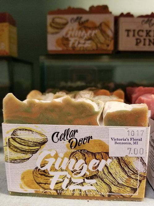 Cellar door soap: ginger fizz