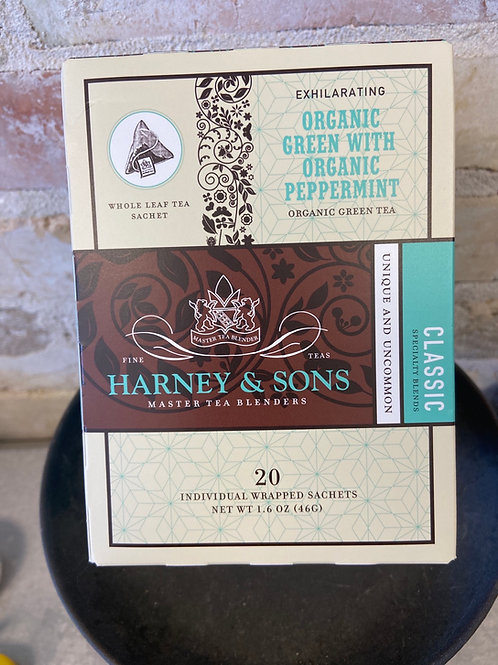 Harney & Sons Organic Green w/ Organic Peppermint