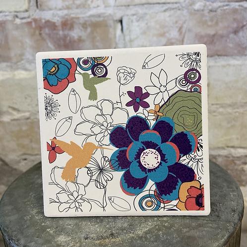Mod mid century  Hummingbird Coaster