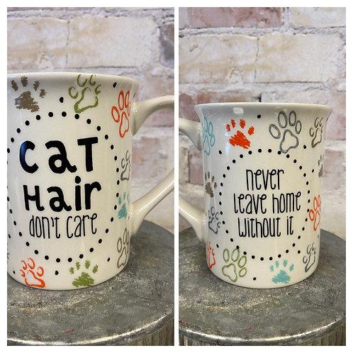 Cat hair, don't  care 🤷🏻♀️ mug