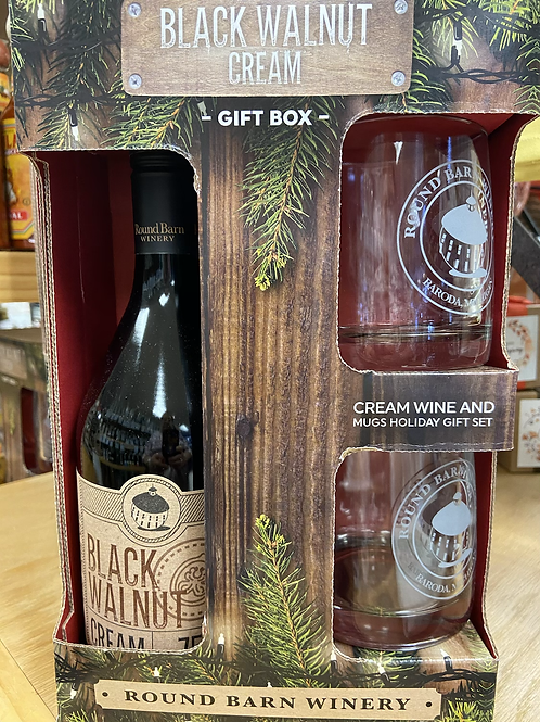 Round Barn Black Walnut Cream Wine in a Gift Set