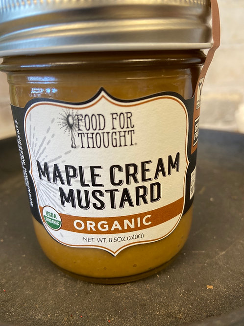 Food For Thought Maple Cream Mustard