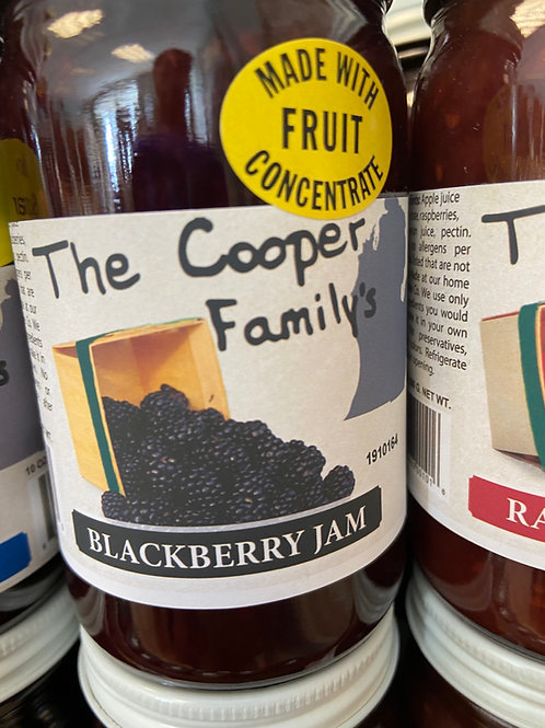 The Cooper Family Blackberry Jam  no sugar added