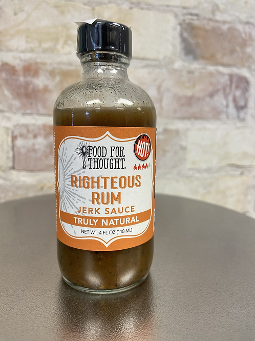 Food For Thought Righteous Rum Jerk Sauce