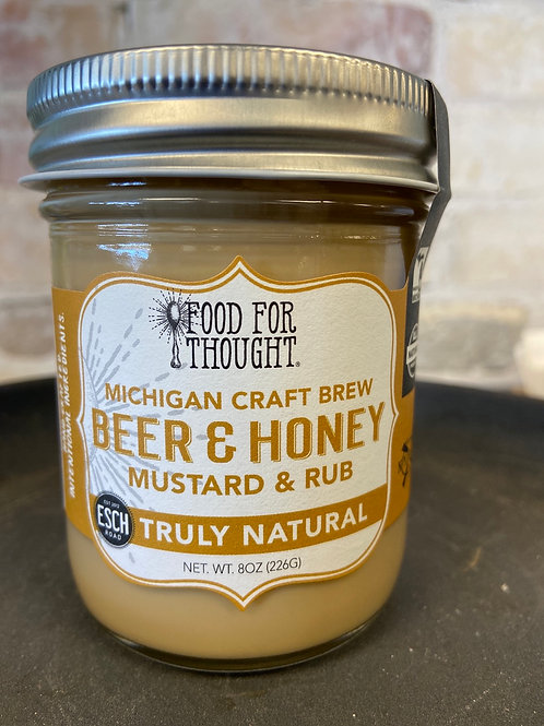 Food For Thought Michigan Craft Brew Beer & Honey Mustard & Rub