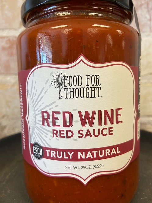 Food For Thought Red Wine Red Sauce