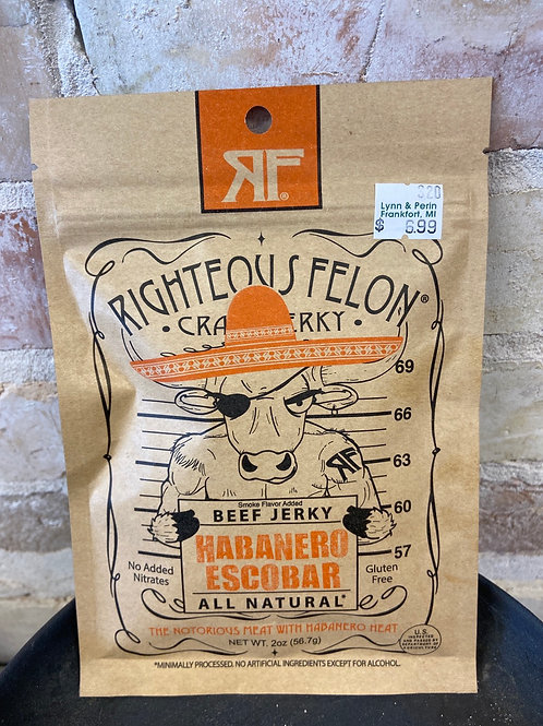 Righteous Felon Habanero Escobar Craft Jerky