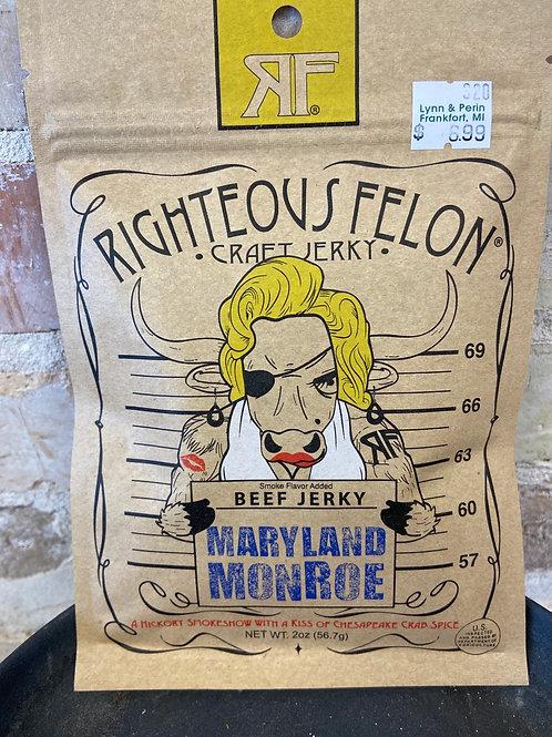 Righteous Felon Maryland Monroe Craft Jerky