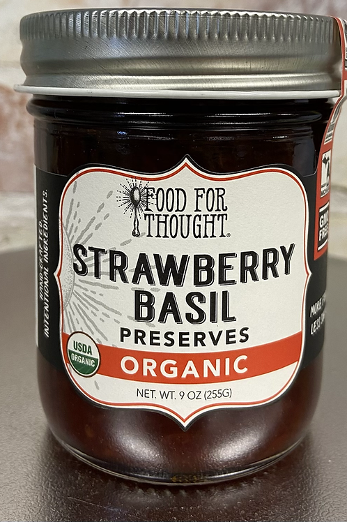 Food For Thought Strawberry  Basil Preserves