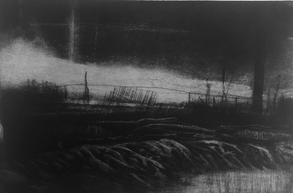Black and shiny mudflats