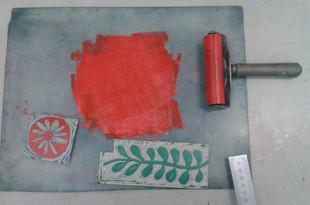 Jigsaw linocut ready to print