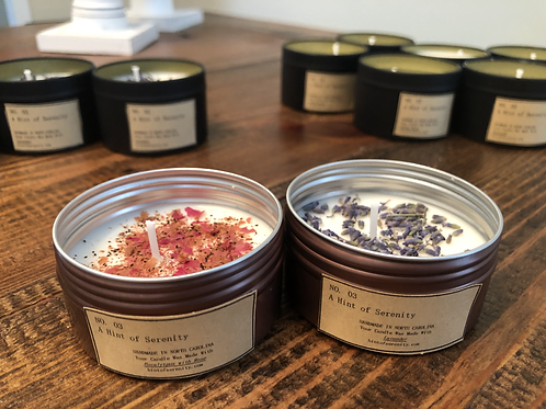 3oz Candle with Dried Flowers