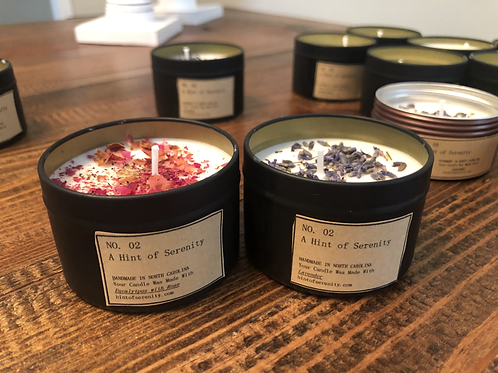 4 oz Candle with Dried Flowers