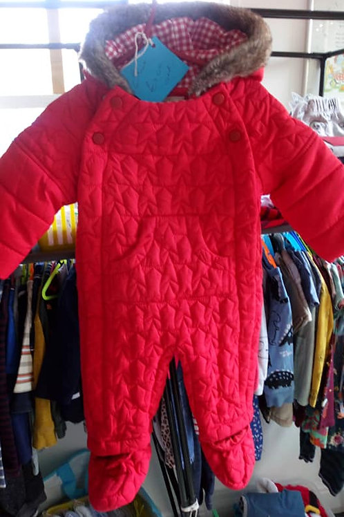 6-9 MONTH RED SNOWSUIT