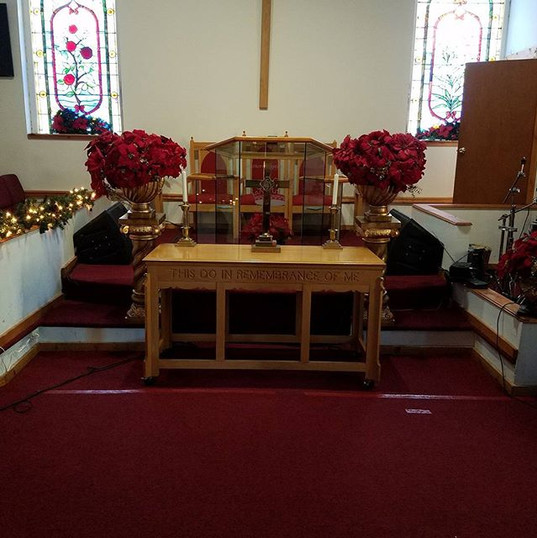 At the altar!!!!