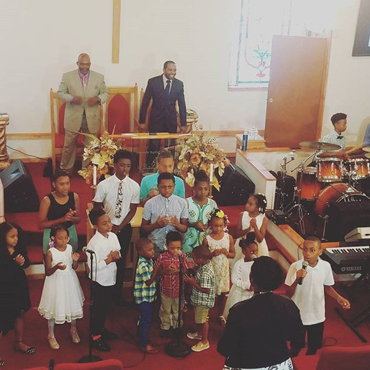 SBC Youth Choir went in today!!! Zac was