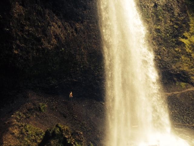 Carley behind Moul Falls