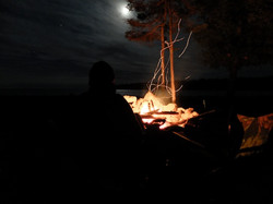 Fire on Drummond Island