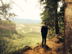 Hiking at Helmcken Falls
