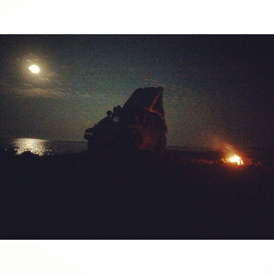 Super Moon / Jeep / Fire