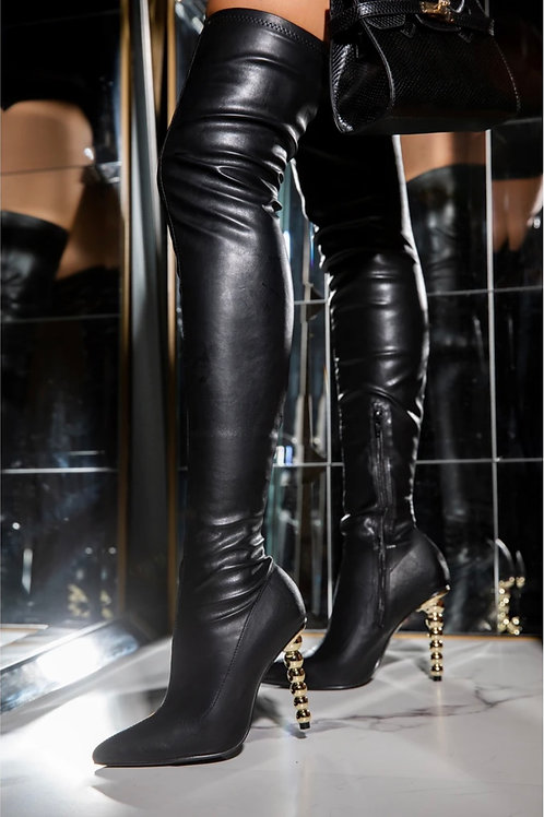 HIT THE TOWN - Thigh high boots