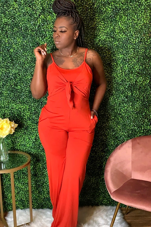 STACY JUMPSUITS - Red