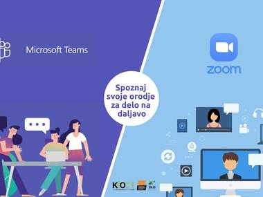 KŠOC vodiči/tutoriali za uporabo aplikacij MS Teams in Zoom