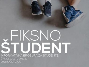 Sveža informativna brošura Fiksno študent