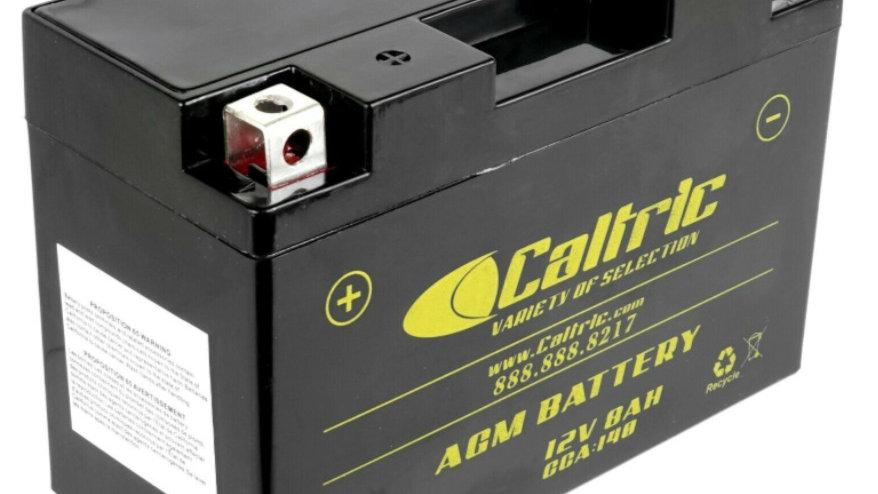 Caltric AGM Battery for Yamaha Raptor 700 YFM700R 2006-2020 / 12V 8Ah CCA 140
