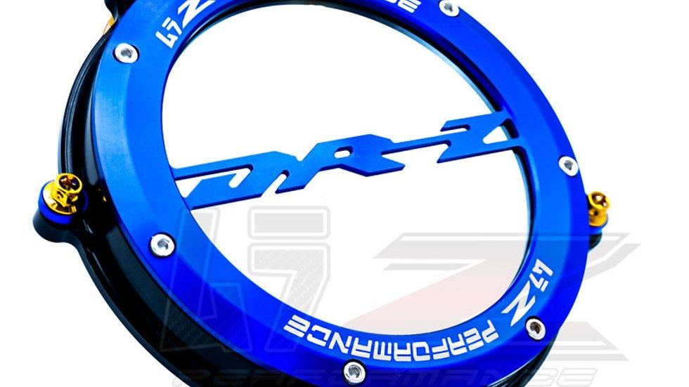 DRZ400SM BILLET OUTER ENGINE CLUTCH COVER-BLUE