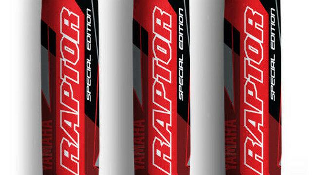 Red Black Yamaha Shock Covers Raptor YFM 250 350 660R *Special Edition* (Set 3)