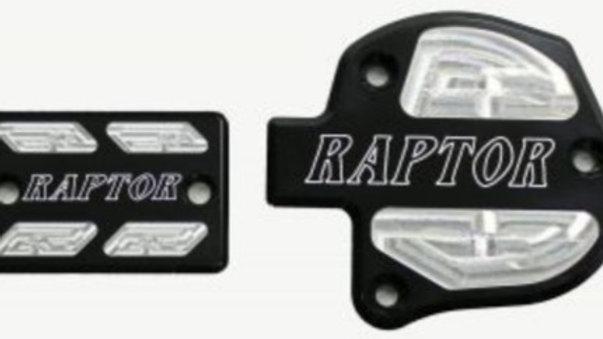 Throttle & Brake Cover Set (2009 & newer) – Black w/Logo