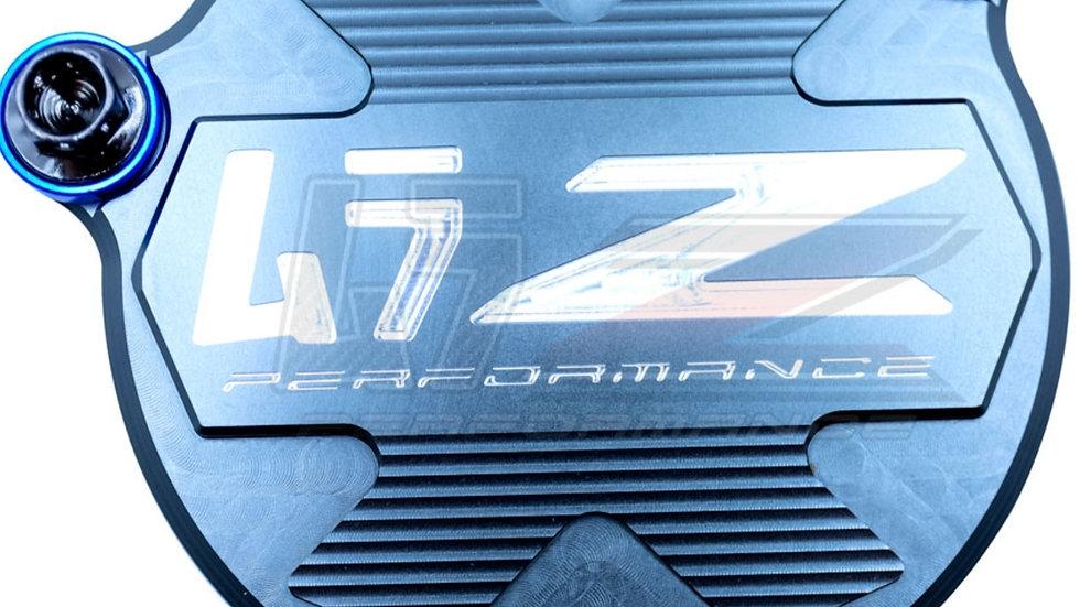 DDRZ400 STARTER GEAR COVER-BLUE