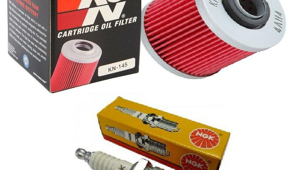 Yamaha RAPTOR YFM 700 700R Tune Up Kit NGK Spark Plug K&N Oil Filter 2006-2018