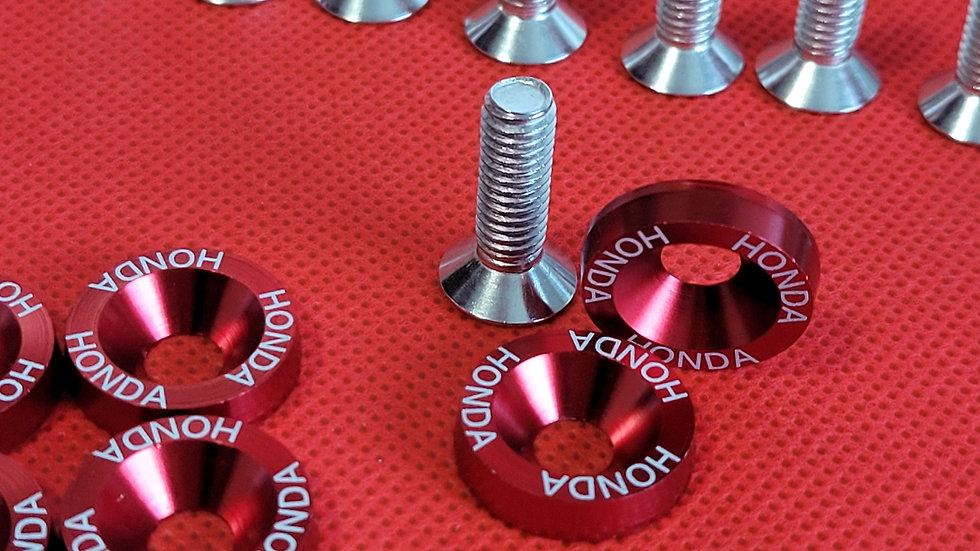 HONDA RED WASHERS (10SETS)