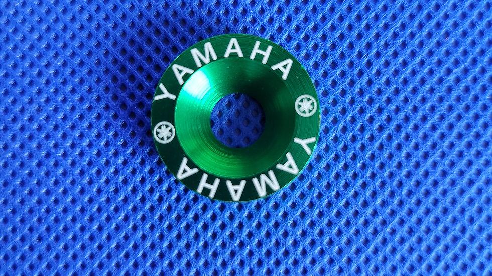 GREEN  YAMAHA WASHERS (10)