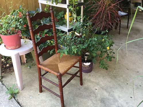 Wood 'n Wicker High-back Chairs