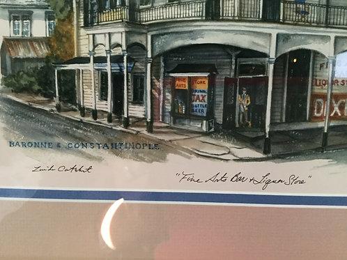 "Vintage Print ""Fine Arts Bar"""