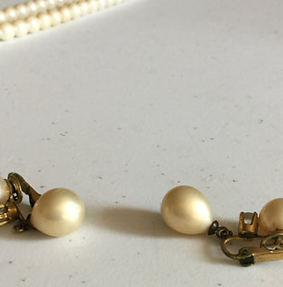 Vintage Double-Pearl Earrings
