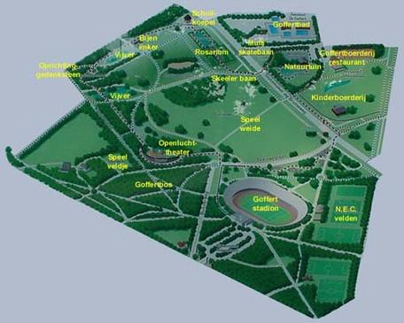 Snelfietsroute door Goffertpark Nijmegen dynamisch verlicht met Innolumis