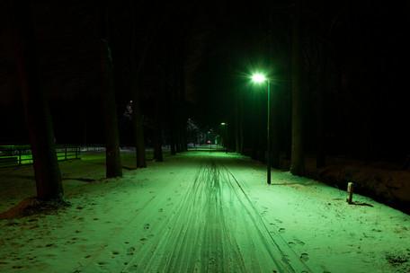 Innolumis verlichting voelt zich ook prima thuis in de sneeuw...
