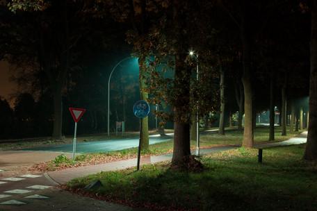 Nieuwe aansluiting langs A12 bij Houten voorzien van Innolumis LED verlichting