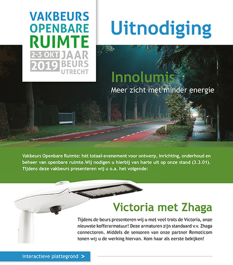 Uitnodiging Vakbeurs Openbare Ruimte Jaarbeurs Utrecht