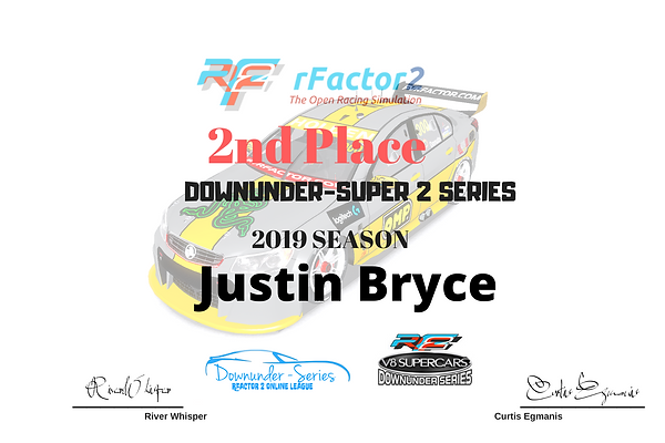_Downunder super 2 series 2019 2nd place