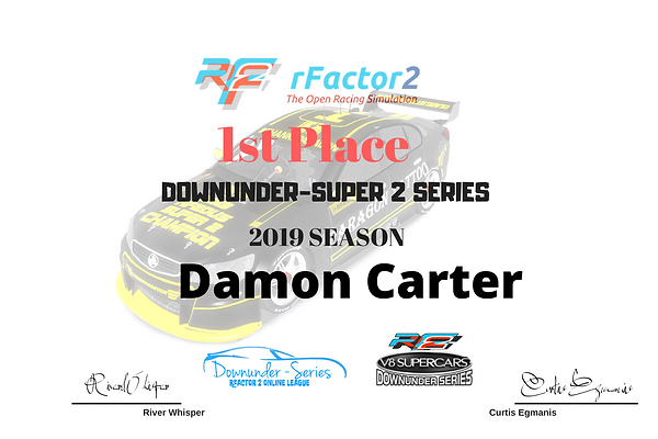 Downunder super 2 series 2019 1st place