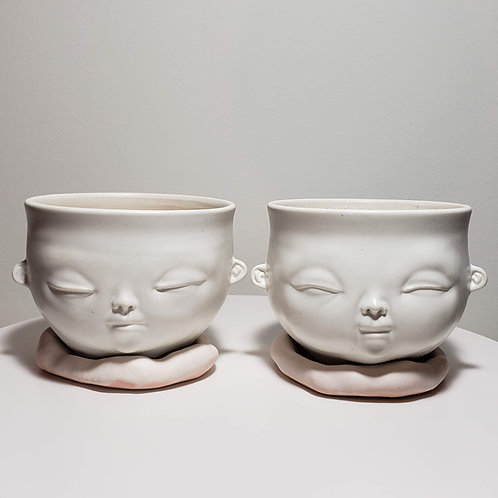 Light Pink Bowls, Set of 2-B