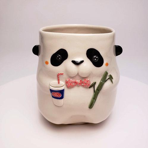 Panda with a soda