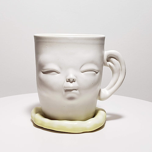 Lemon yellow mug-4